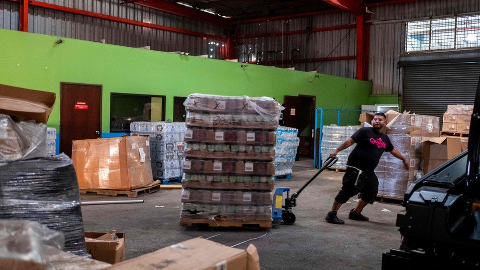 Puerto Rico official sacked over Hurricane Maria aid warehouse