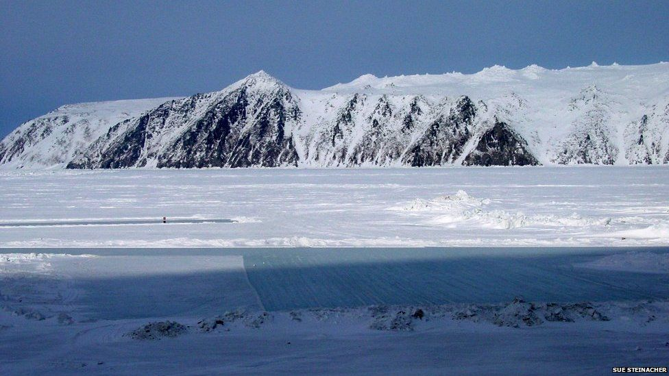 Little Diomede in winter