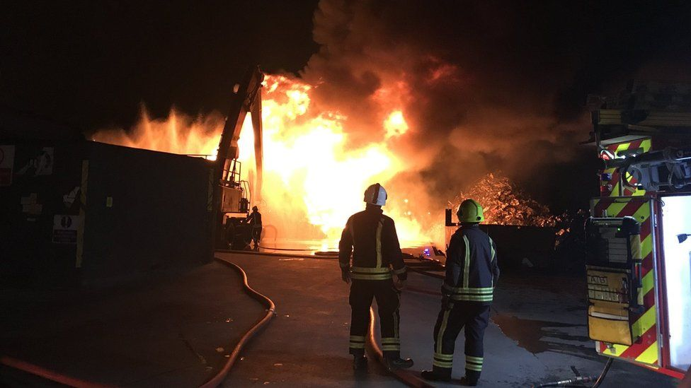 Fire at Parnham House