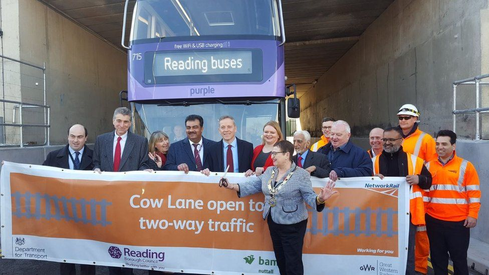 Reading mayor Deborah Edwards on Cow Lane
