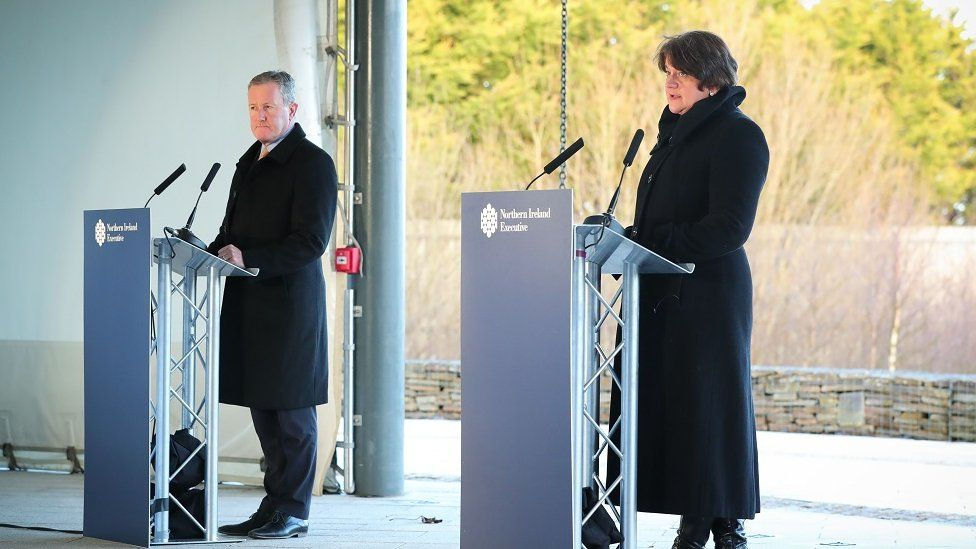 Conor Murphy and Arlene Foster