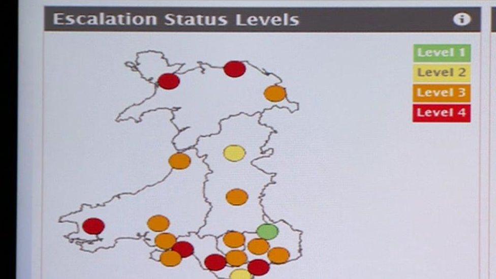 NHS Wales monitoring screen