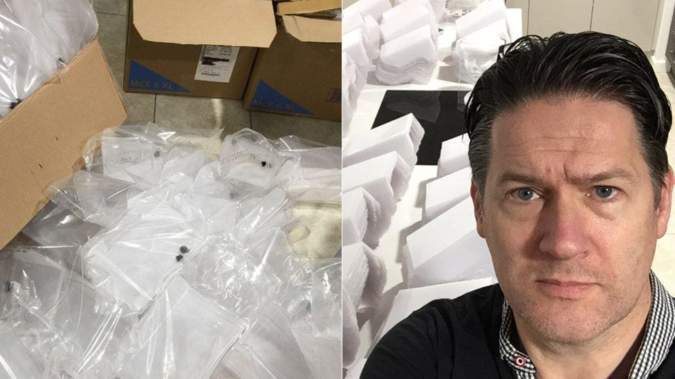 Visors stockpiled