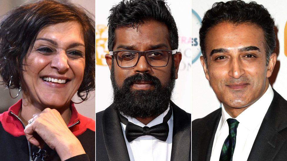 Meera Syal, Romesh Ranganathan and Adil Ray