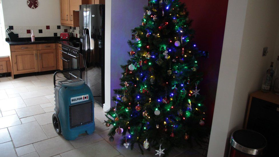 A Christmas tree in Neil West's house