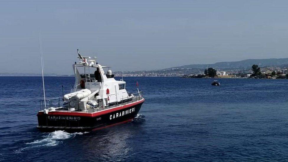 File pic of cabinieri patrol boat