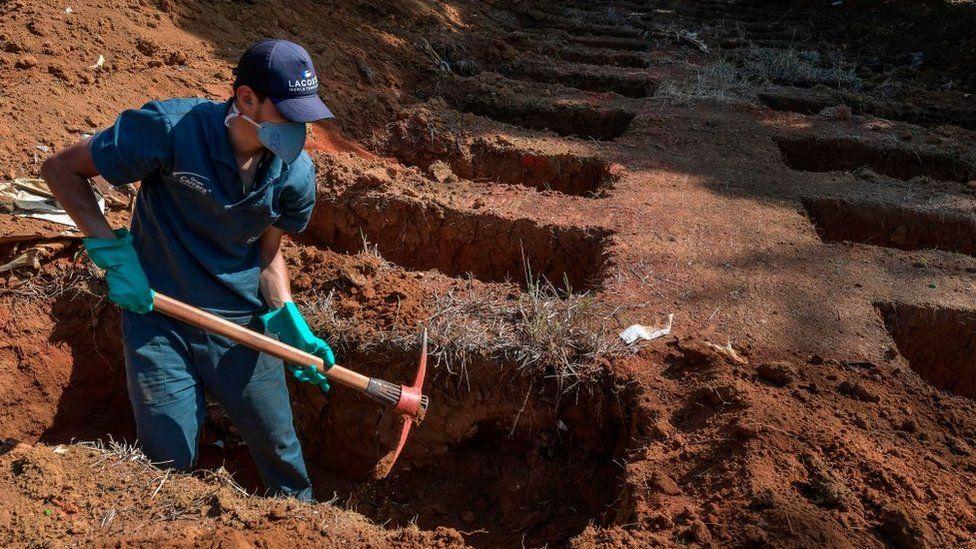 Gravedigger in Brazil
