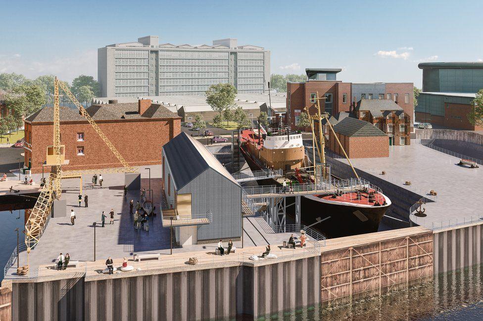 Artist impression of North End Shipyard