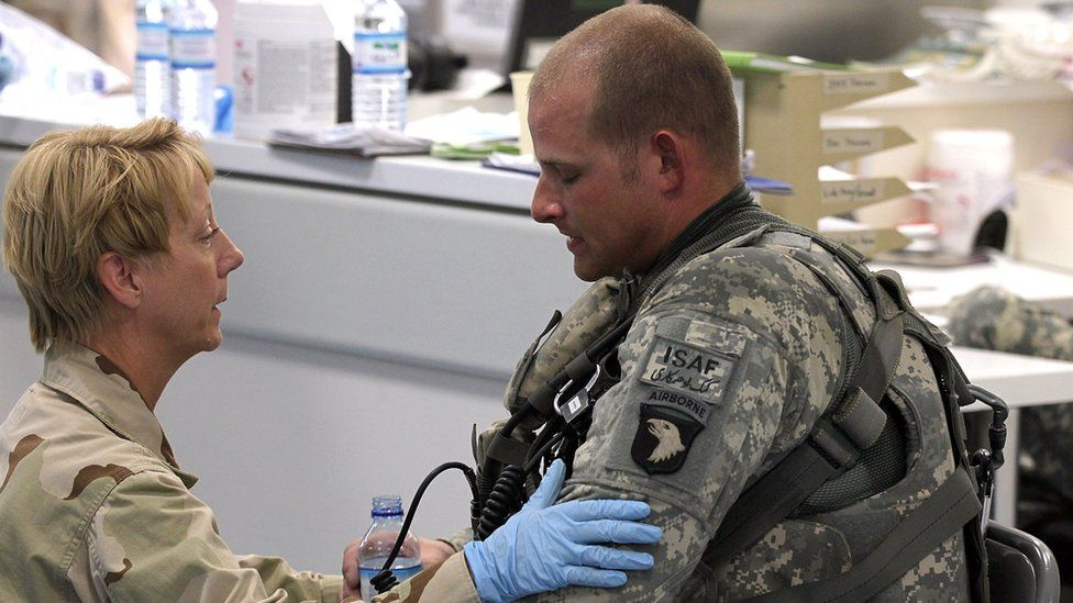 US soldier and medic