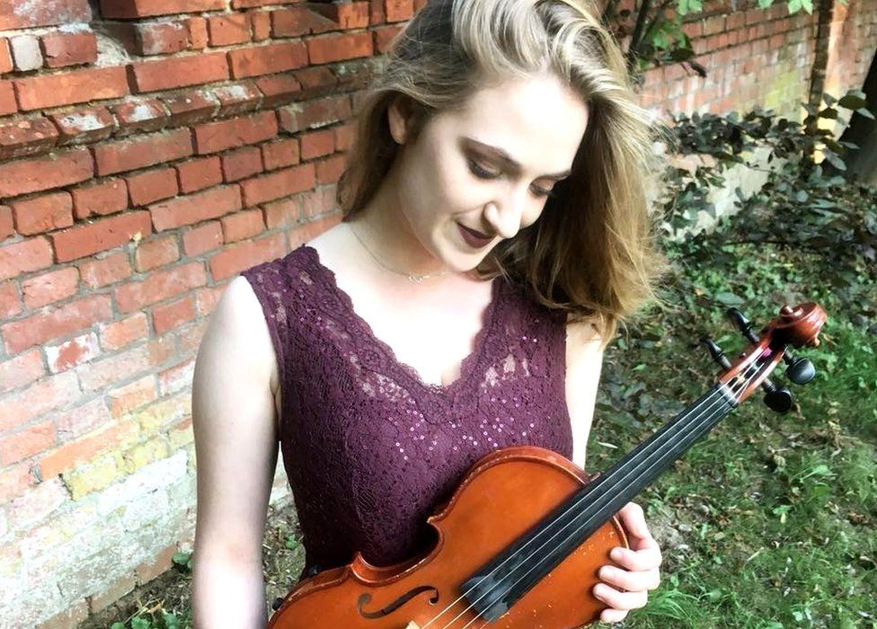 Justyna Grudzień, 20, plays the violin and is a member of the European Union Youth Orchestra