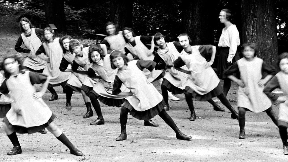 Pupils at a school in Venissieux (Rhone), 1930s