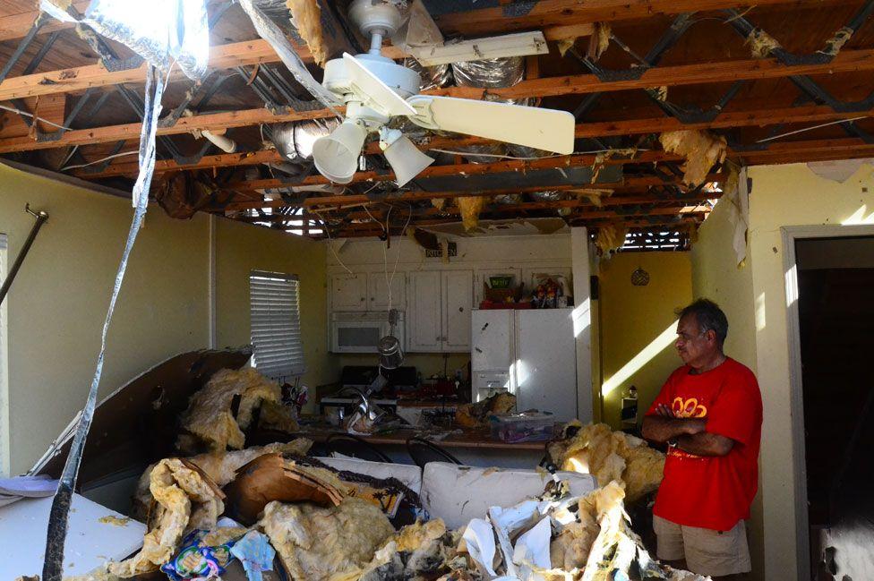 Jaques surveys the damage