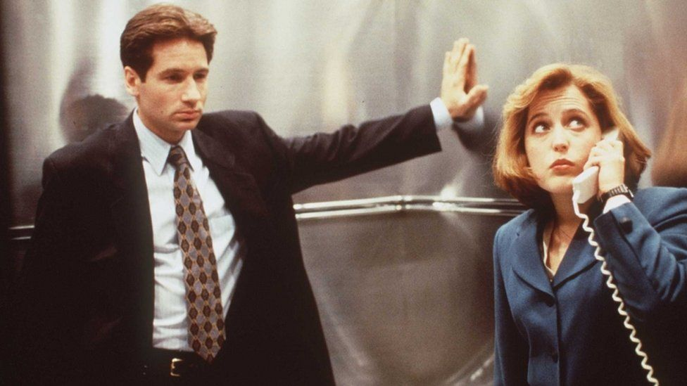 Gillian Anderson and David Duchovny of The X-Files pictured in the mid-1990s