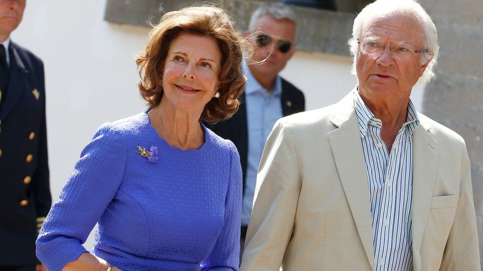 Шведский король Карл XVI Густав и Сильвия Зоммерлат