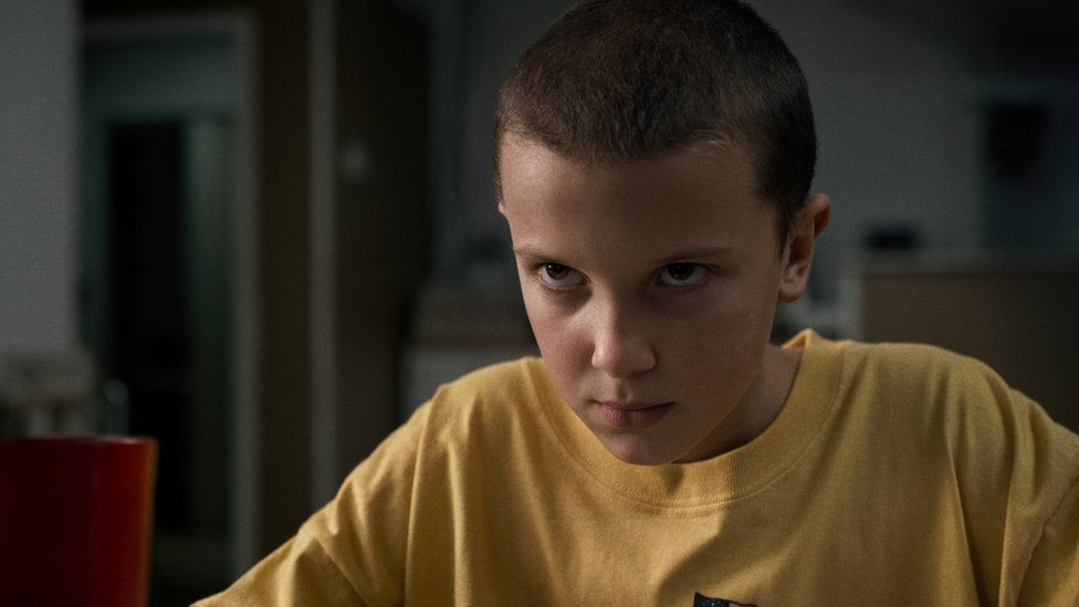 Millie Bobby Brown in a scene from Stranger Things