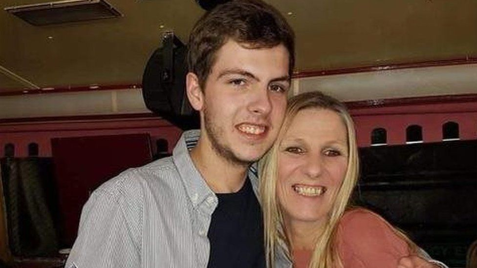 Paul Wood, with his mother Helen