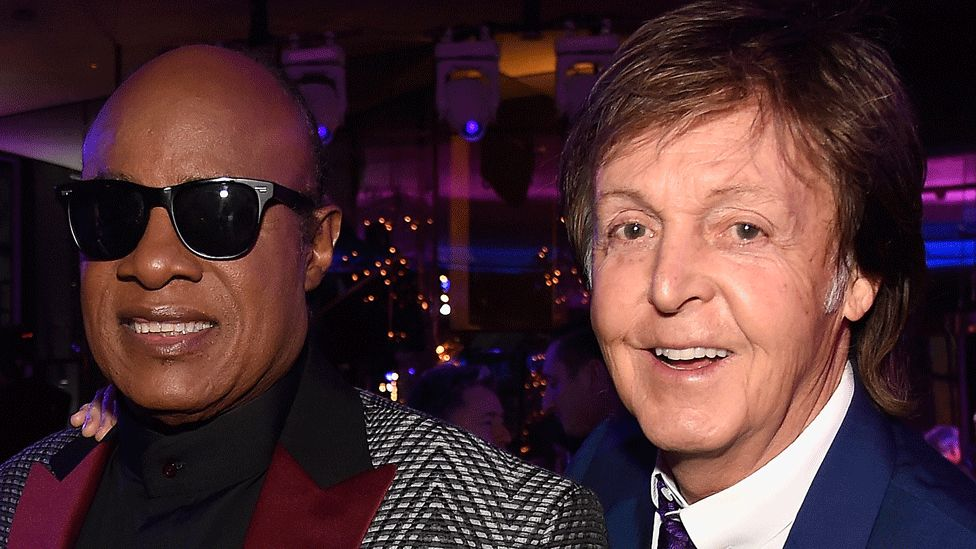 Stevie Wonder and Sir Paul McCartney