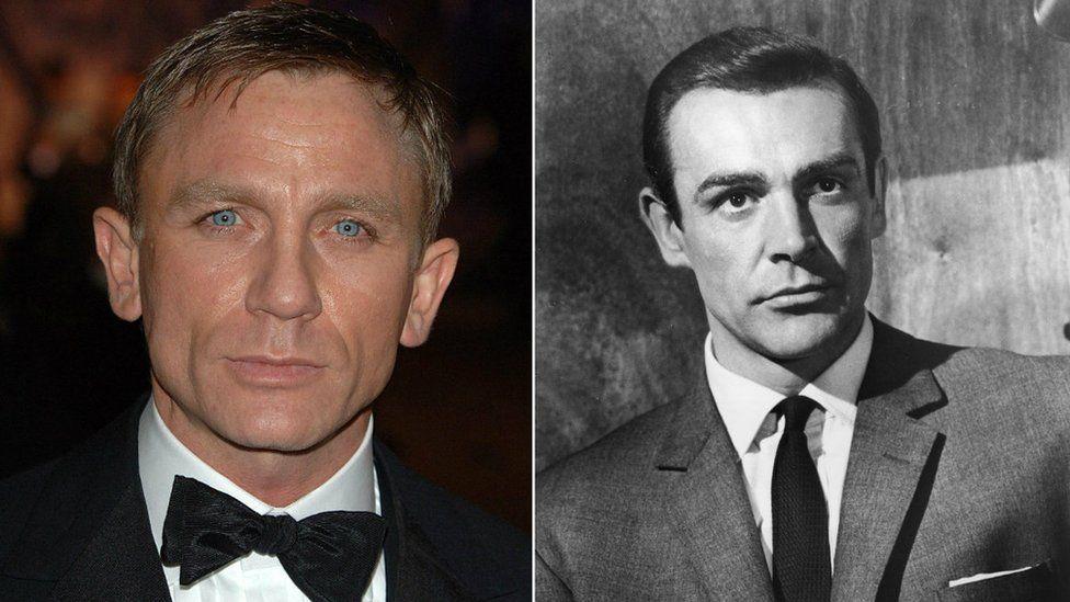 Daniel Craig and Sean Connery