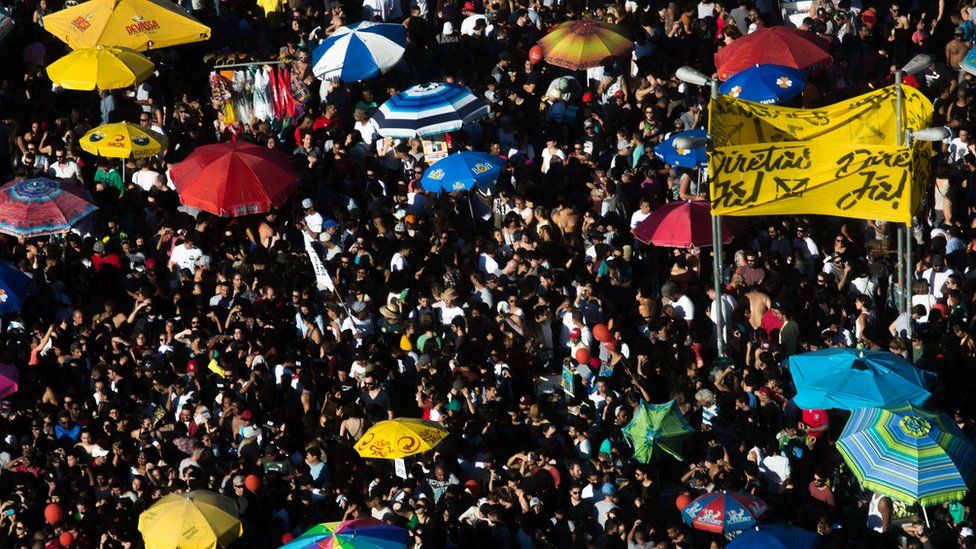 Thousands of protesters call for the impeachment of President Michel Temer and direct elections on June 4, 2017 in Sao Paulo, Brazil