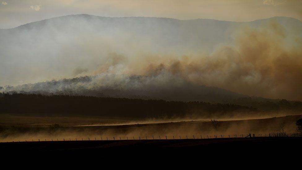 Fires near Canberra, Australia