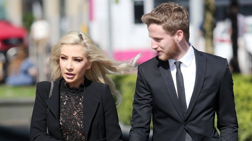 Laura Lacole and Eunan O'Kane at an earlier court appearance