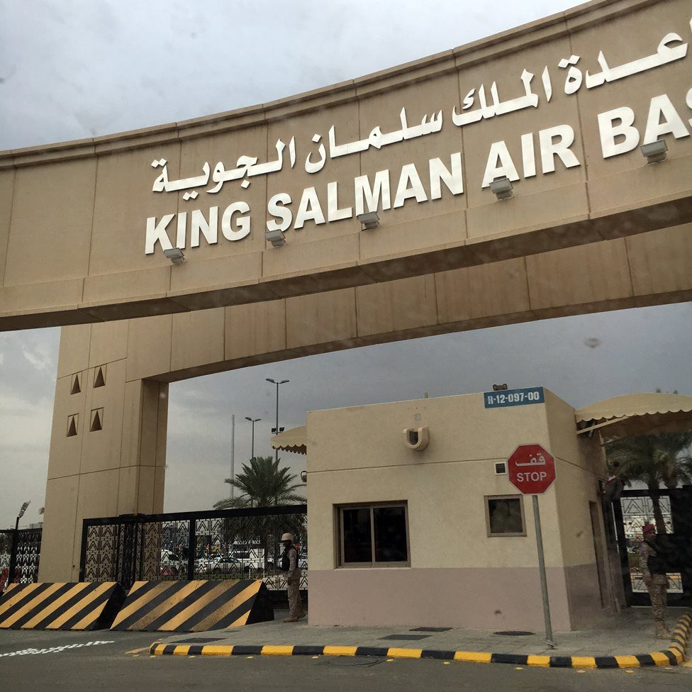 King Salman Air base in Riyadh, from where the air campaign over Yemen is directed