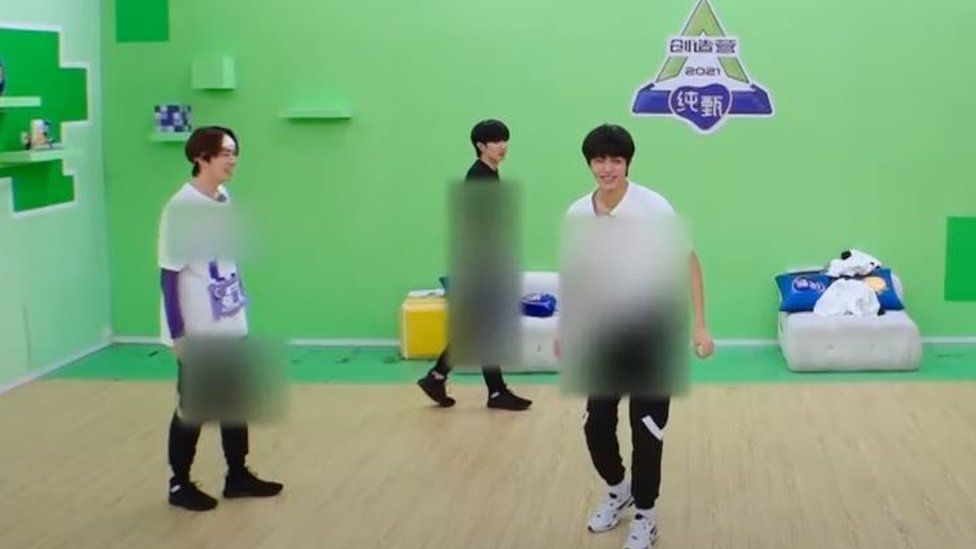 Chuang 2021 contestants had their entire bodies blurred out