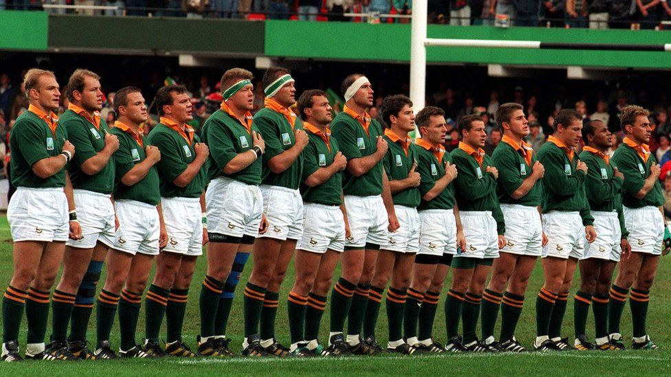 The 1995 South African World Cup winning team