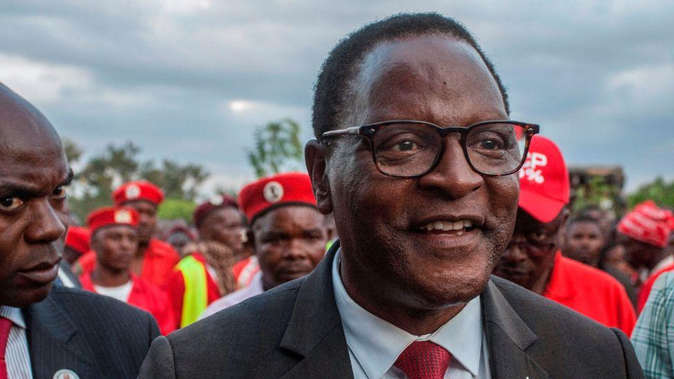 Malawian President Lazarus Chakwera