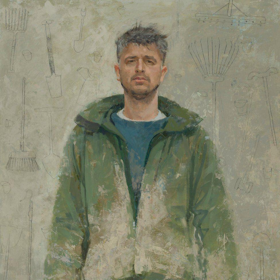 Portrait by Helen Wilson entitled 'Jonah Gaskell of Kittyfield Farm'