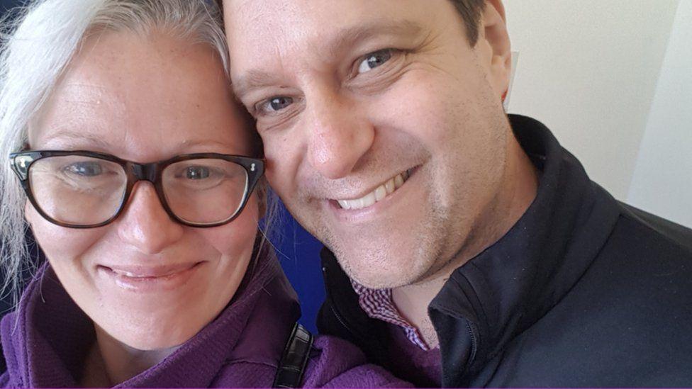 Sian Brindlow and her husband, Nick