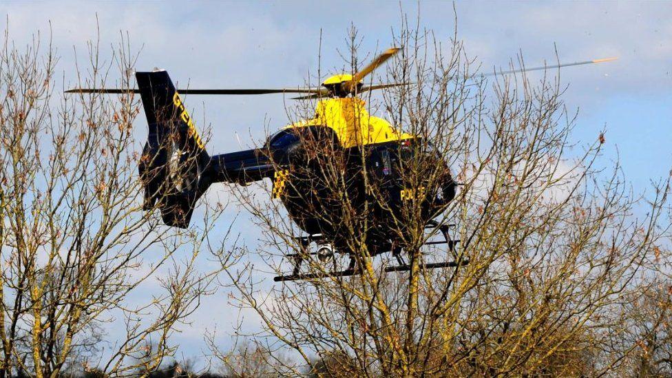 Leicestershire Police helicopter