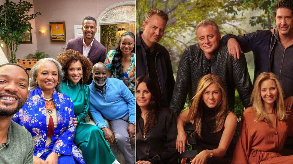The cast of The Fresh Prince of Bel-Air and Friends