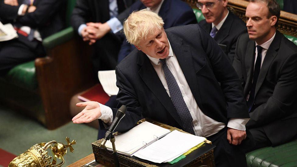 Boris Johnson at Prime Minister's Questions
