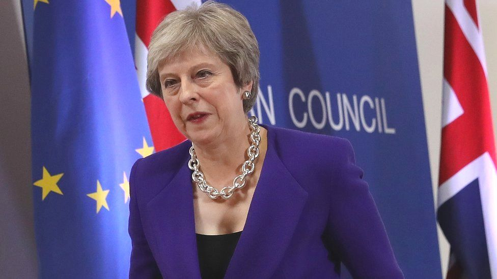 UK PM May in Brussels, 18 Oct 18