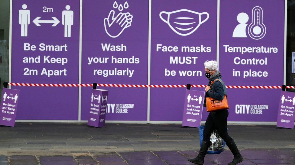 Woman walking in Glasgow