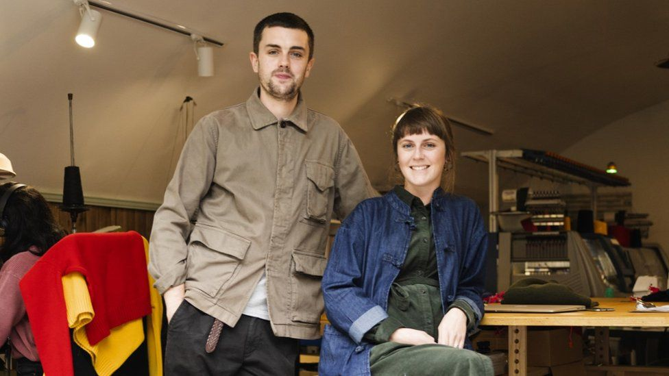 Ben and Alice, co-founders of Country of Origin knitwear