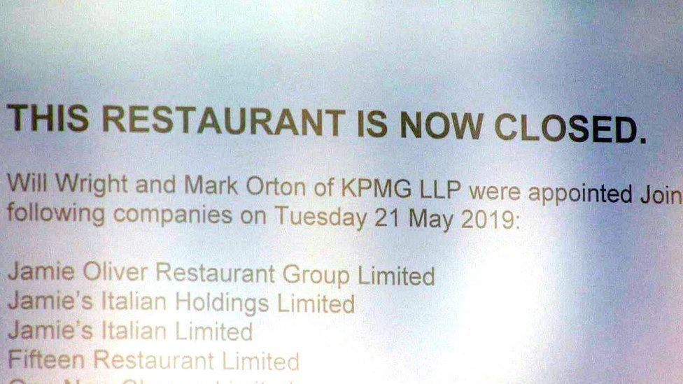 Jamie Oliver restaurant chain collapse costs 1,000 jobs - BBC News