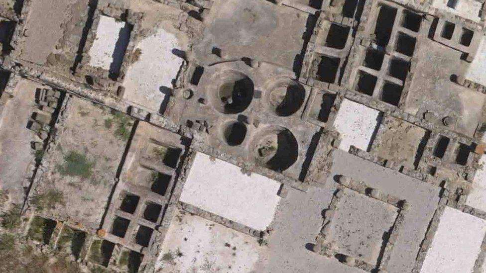 Fish-salting tanks in the ancient Roman city