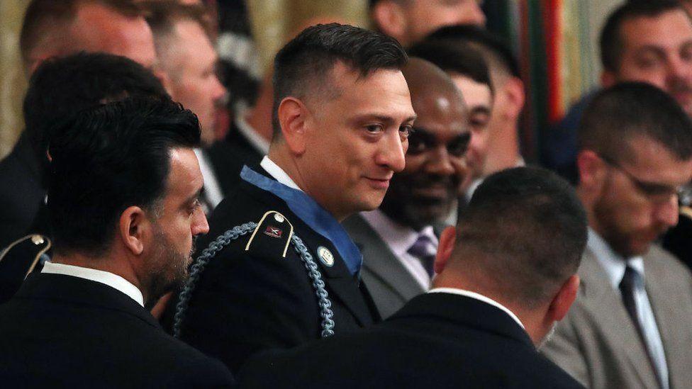 SSgt David Ballavia among fellow soldiers