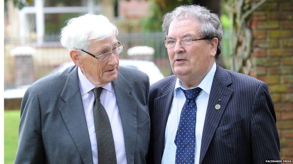 Seamus Mallon and John Hume