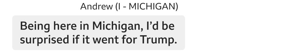 I'd be surprised if Michigan went for Trump.