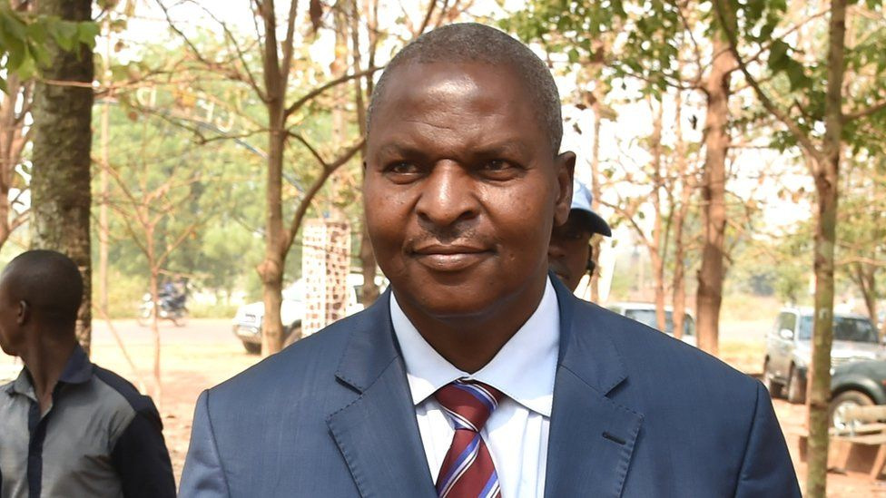Central African Republic's president-elect Faustin-Archange Touadera