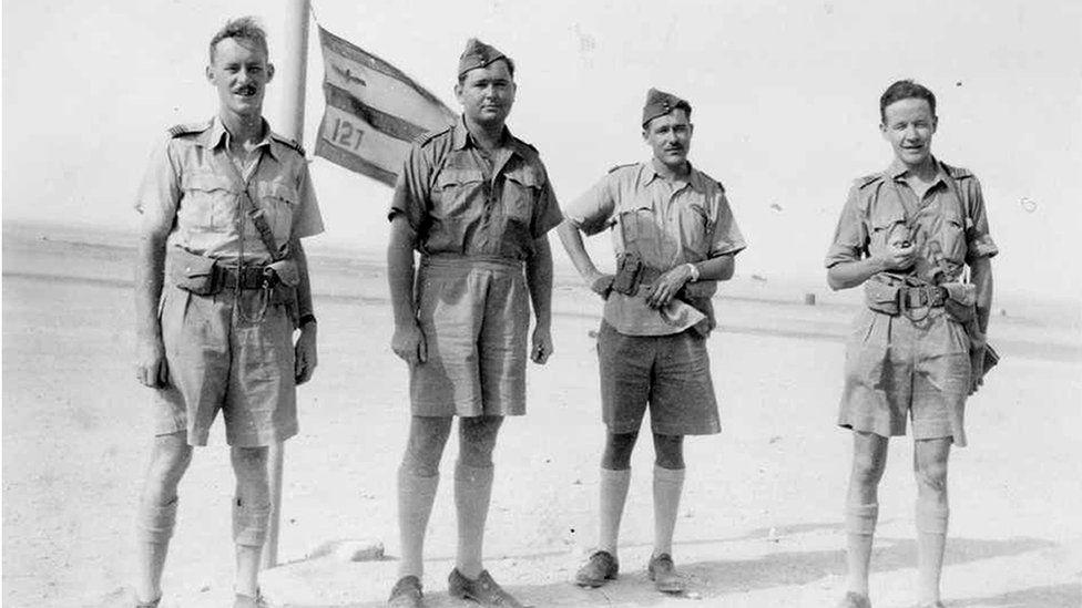 RAF men in Iraq desert