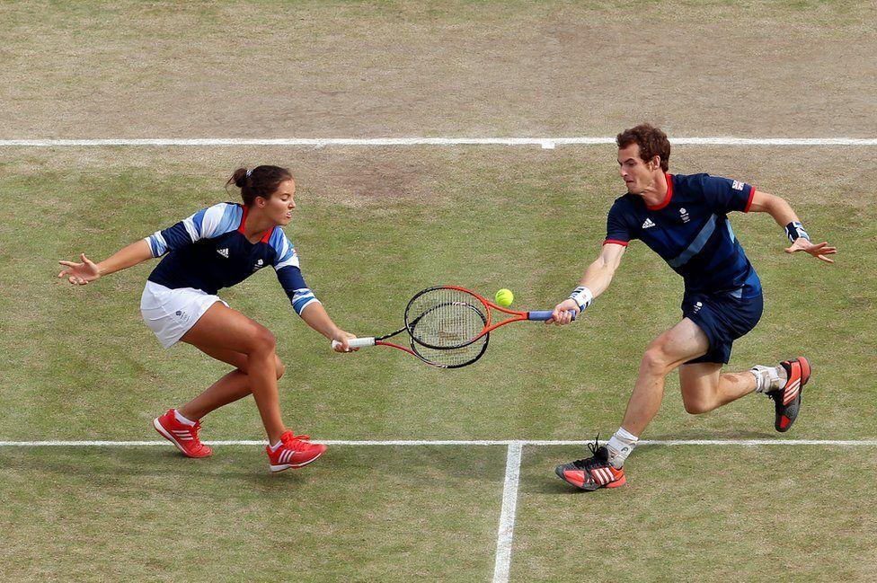 Laura Robson y Andy Murray, de Gran Bretaña.