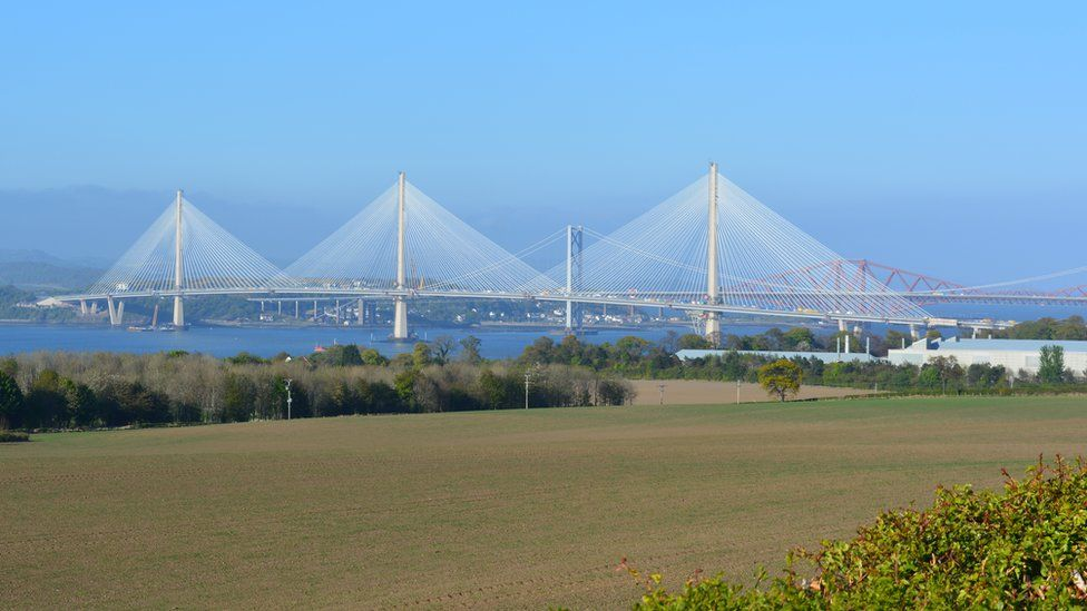 Queensferry Crossing from Milton