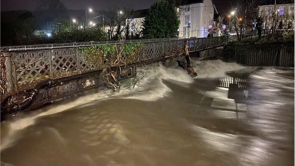 High river levels in Pontypridd