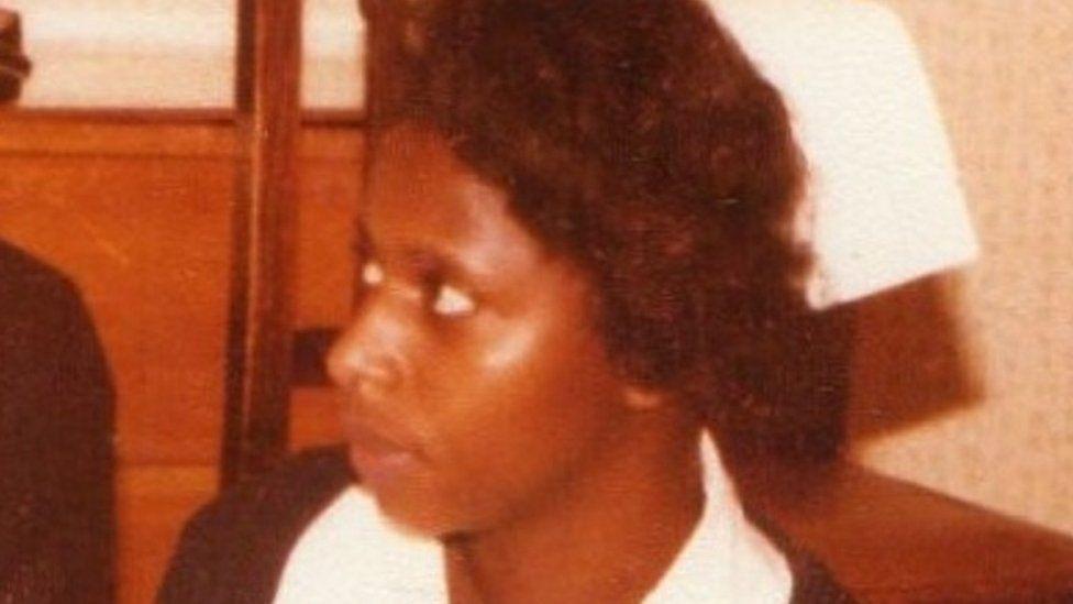 Paulette Bolton as a young nurse