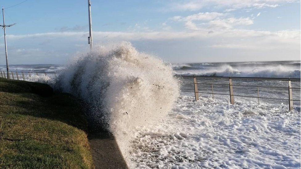 Storm Ciara hits Newcastle