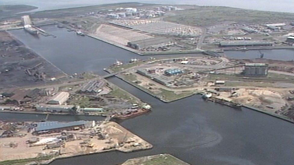 Cardiff Bay in 1987